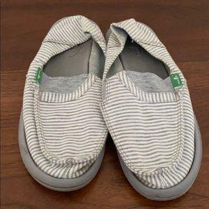 Grey and White striped Sanuks